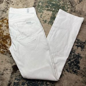 7 for all mankind white boot cut jeans sz 28